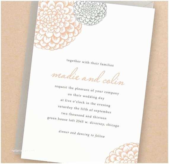 Etsy Diy Wedding Invitations Instant Download Blooms Diy Wedding Invitation by