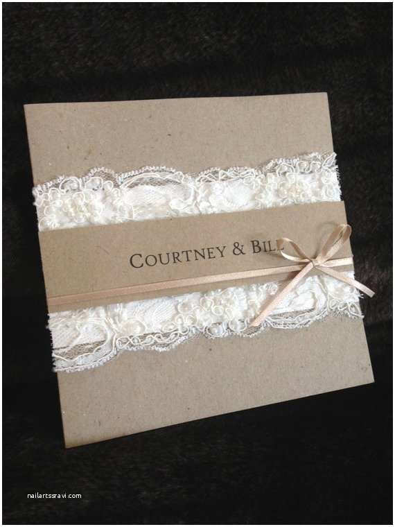 Etsy Diy Wedding Invitations Items Similar to Handmade Vintage Lace Wedding Invitation