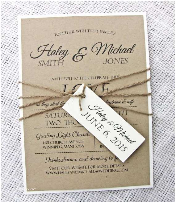 Etsy Diy Wedding Invitations Items Similar to Rustic Wedding Invitation Diy Printable
