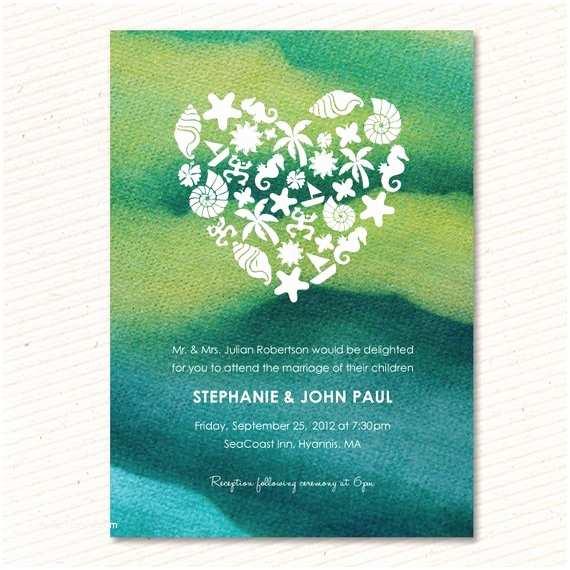Etsy Diy Wedding Invitations Items Similar to Tie Dye Beach Wedding Invitation Diy