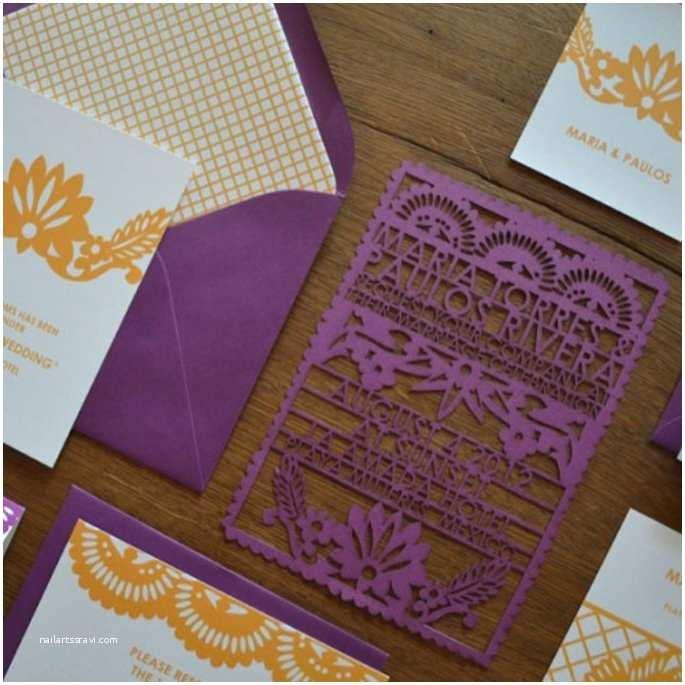 Etsy Papel Picado Wedding Invitations Inspiration Mexicaine Pour Un Mariage Invitation Et