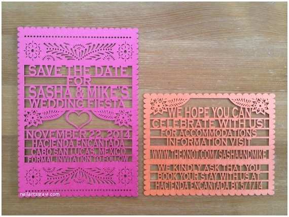 Etsy Papel Picado Wedding Invitations Laser Cut Invitations 150 Papel Picado Inspired Wedding