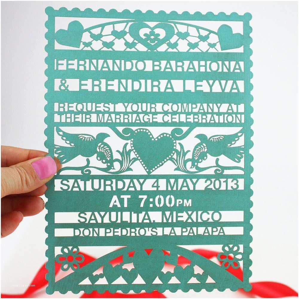 Etsy Papel Picado Wedding Invitations Papel Picado Lasercut Wedding Invitation
