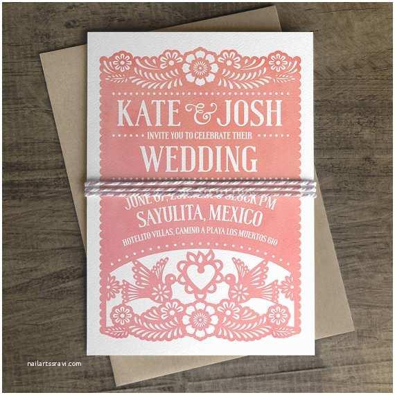 Etsy Papel Picado Wedding Invitations Papel Picado Wedding Invitation Papel Picado Suite by