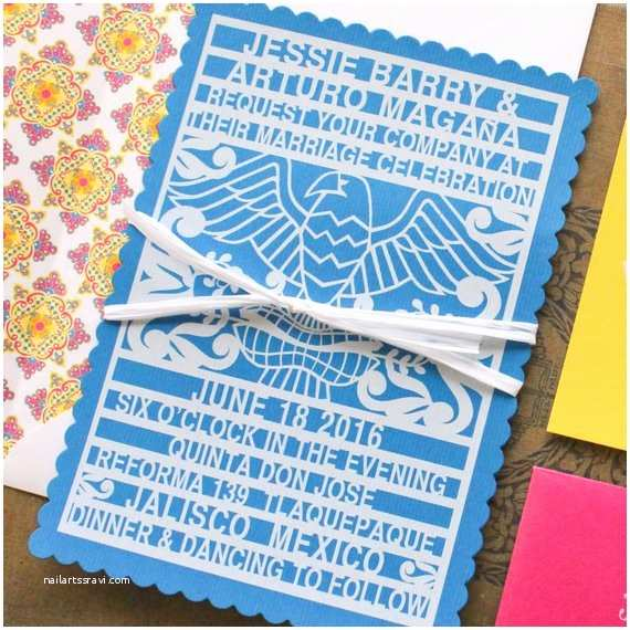 Etsy Papel Picado Wedding Invitations Papel Picado Wedding Invitation Puerto Vallarta Mexico