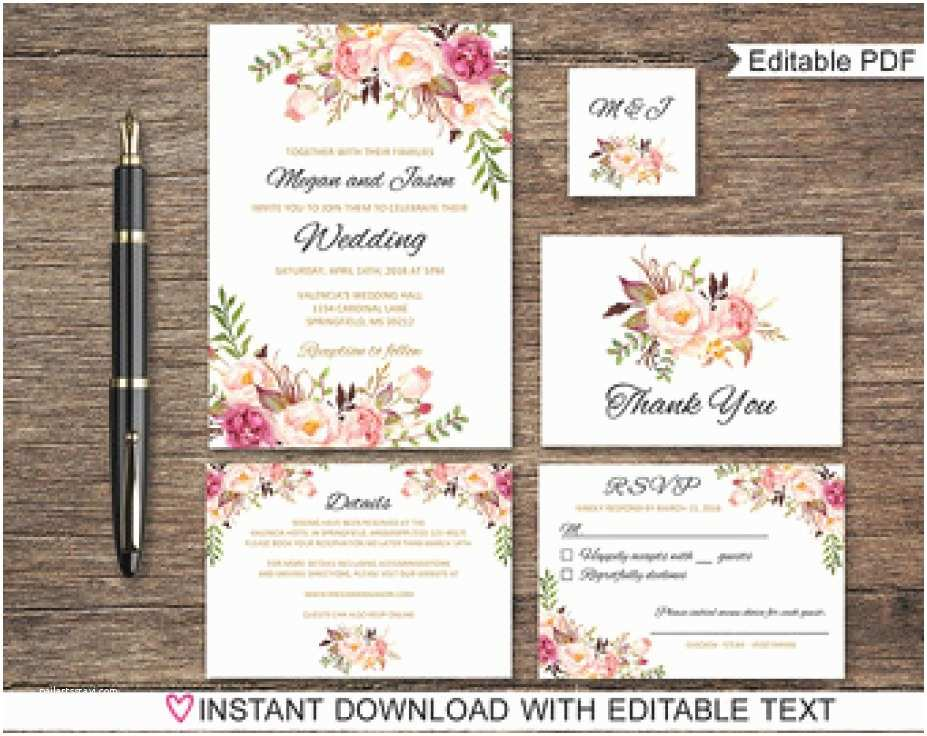 Etsy Printable Wedding Invitations 31 Capture Etsy Wedding Invitation Template Innovative