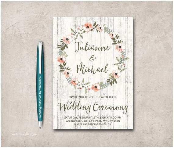 Etsy Printable Wedding Invitations Wedding Etsy Wedding Invitation Templa