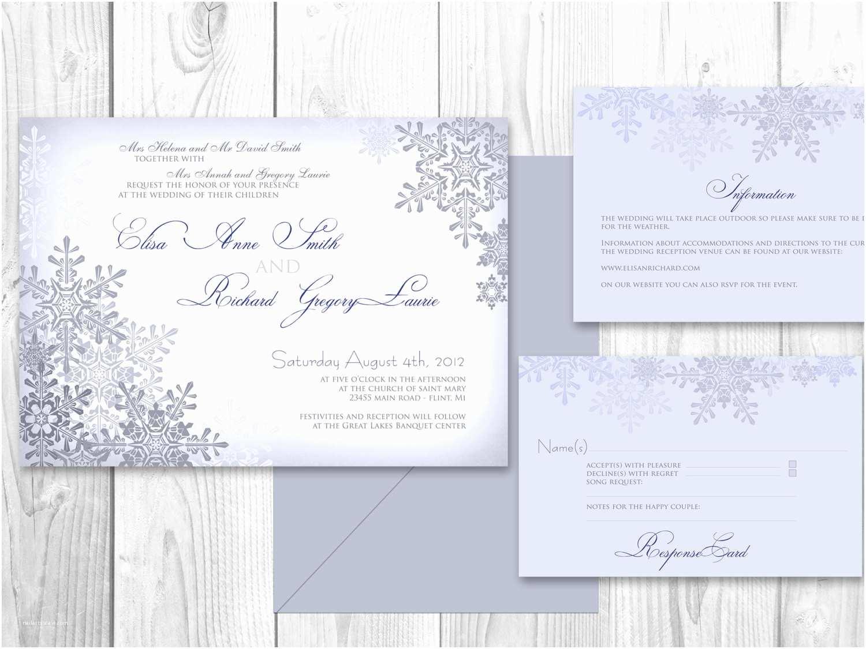 Etsy Printable Wedding Invitations Wedding Invitations Winter Printable Winter by