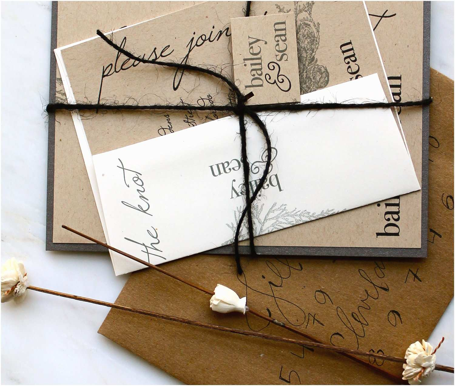 eco friendly wedding finds recycled on etsy rustic invitation suite