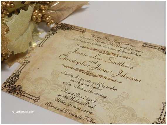 Etsy Rustic Wedding Invitations Items Similar to Vintage Rustic Wedding Invitations