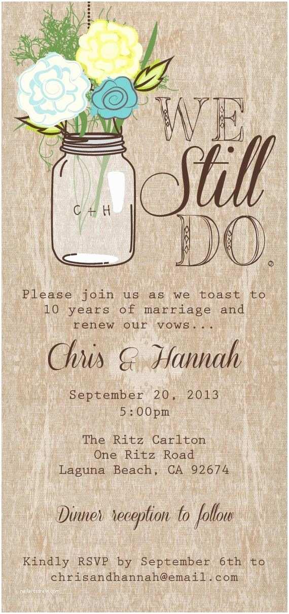 Etsy Rustic Wedding Invitations Mason Jar Printable Invitation Rustic Wedding Invitation