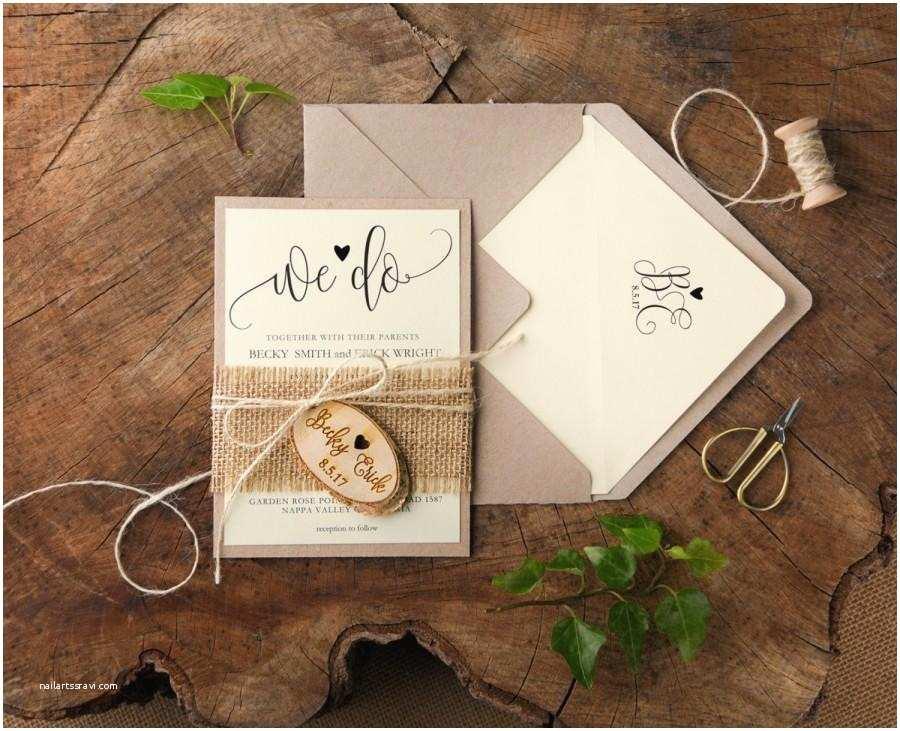 Etsy Rustic Wedding Invitations Rustic Wedding Invitation Suite Country Invitations and