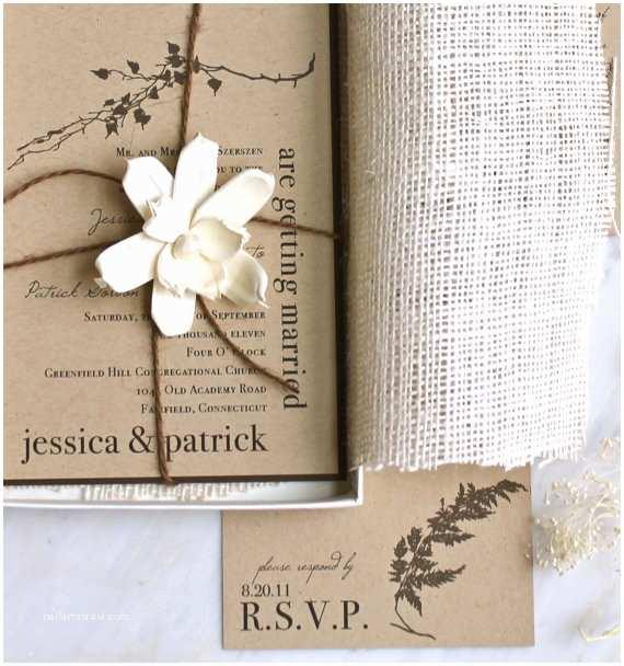 Etsy Rustic Wedding Invitations Simply by Tamara Nicole Seattle Weddings Rustic Etsy