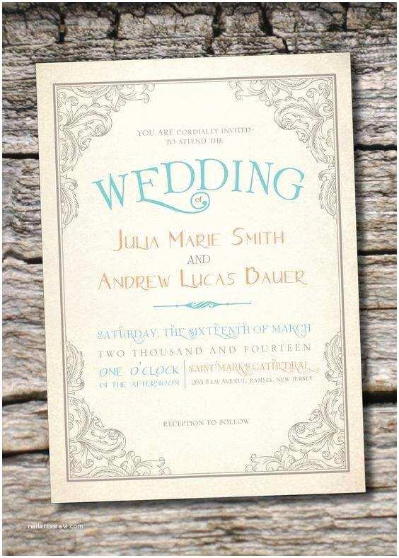 Etsy Wedding Invitation Template Etsy Wedding Invitations
