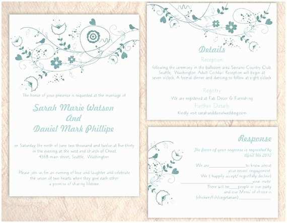 Etsy Wedding Invitation Template Wedding Invitation Templates Etsy Matik for