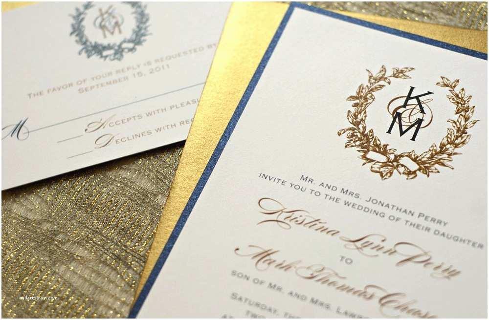 Etsy Wedding Invitations Gilded Wedding Invitations Etsy Weddings Stationery Gold
