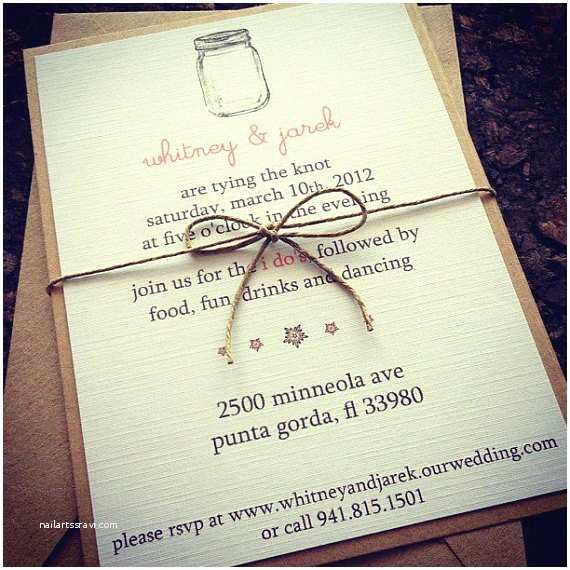 Etsy Wedding Invitations Items Similar to Mason Jar Wedding Invitations On Etsy