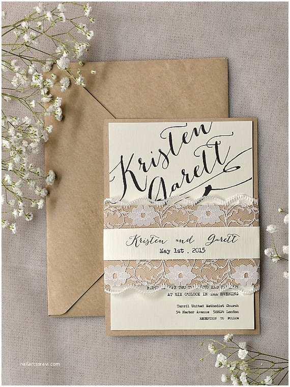 Etsy Wedding Invitations Rustic Wedding Invitation – Shop