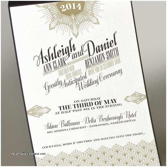 Etsy Wedding Invitations Wedding Invitation Luxury Etsy Art Deco Wedding Invitatio