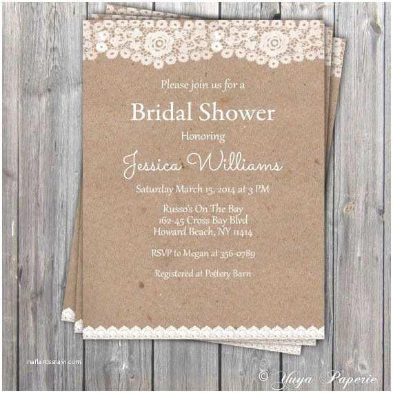 Etsy Wedding Shower Invitations Best 25 Rustic Bridal Shower Invitations Ideas