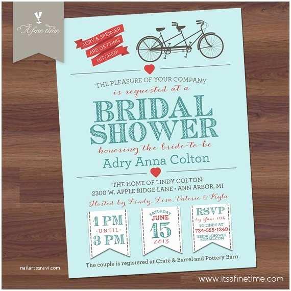 Etsy Wedding Shower Invitations Bridal Shower Invitation by Afinetimeinvitations On Etsy