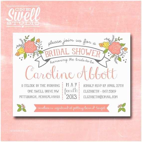 Wedding Shower Invitations Bridal Shower Invitation By Oneswellstudio On