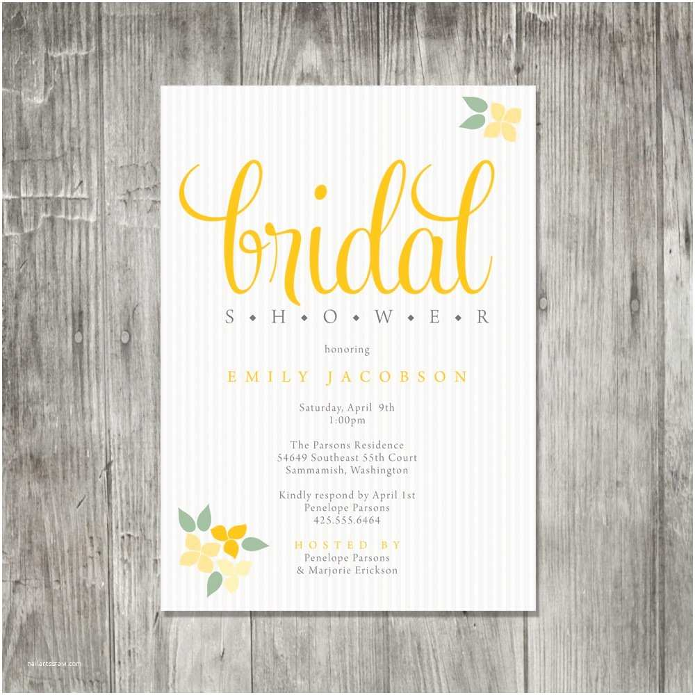 Etsy Wedding Shower Invitations Bridal Shower Invitations Etsy Template