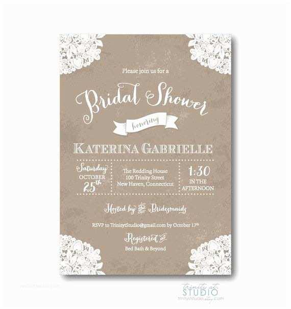 Etsy Wedding Shower Invitations Bridal Shower Invitations Etsy Template topsportcars
