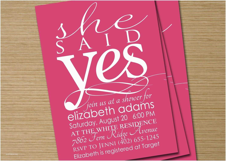 Etsy Wedding Shower Invitations Bridal Shower Invite Printable She Said Yes By