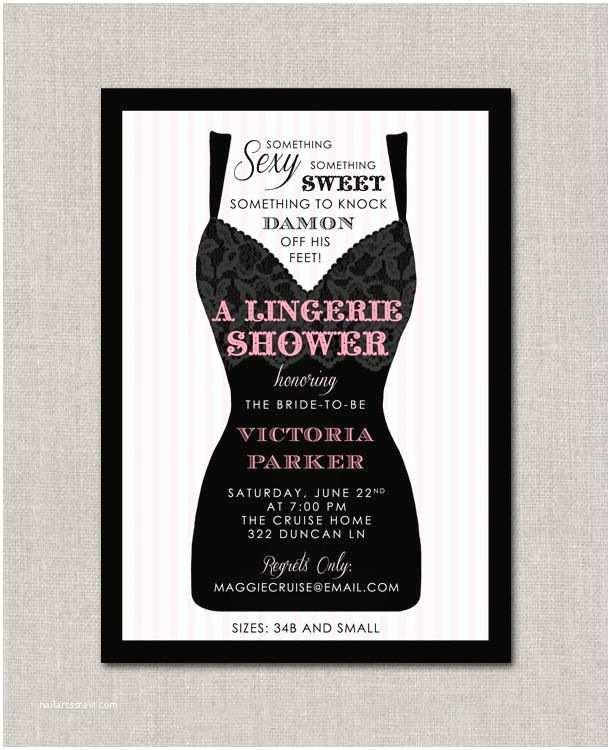 Wedding Shower Invitations Lingerie Shower Invitation $15 00 Via