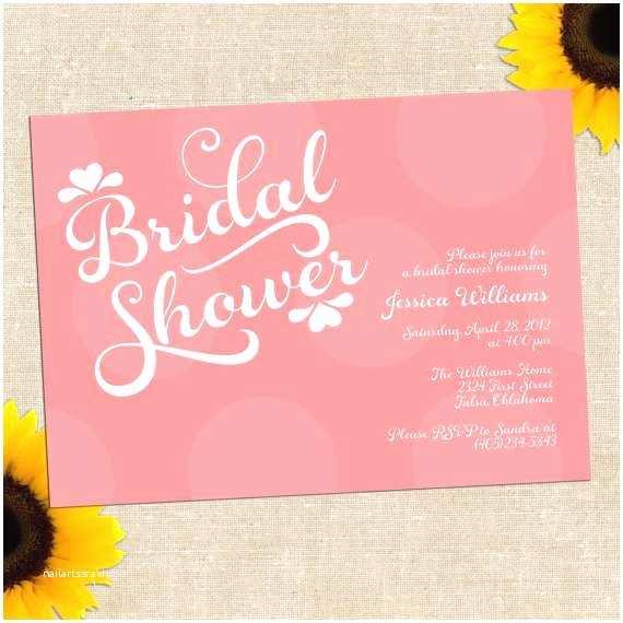 Wedding Shower Invitations Printable Bridal Shower Invitations