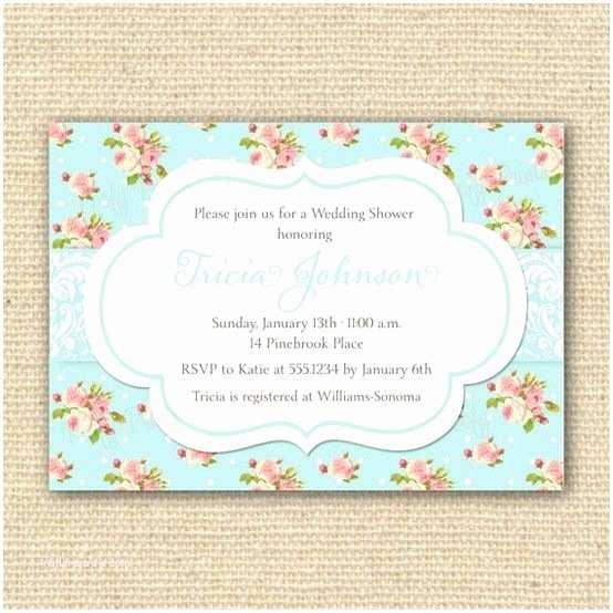 Wedding Shower Invitations Shabby Chic Bridal Shower Invitation By Poofyprints