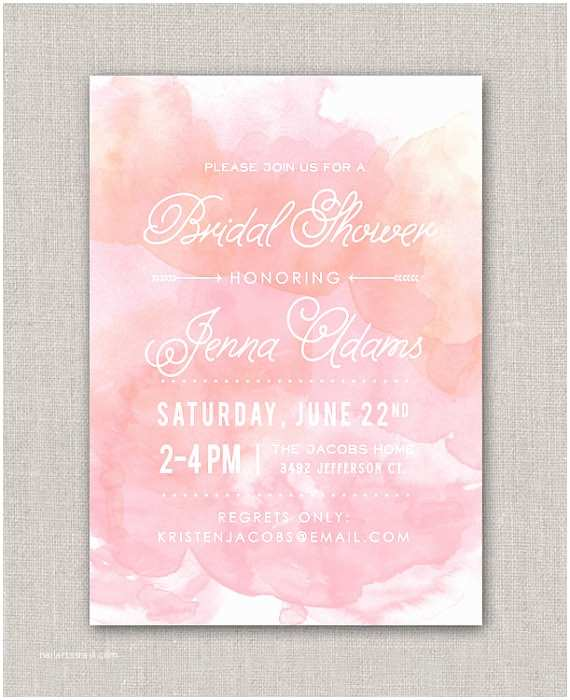 Wedding Shower Invitations Watercolor Bridal Shower Invitation By Announcingyou On