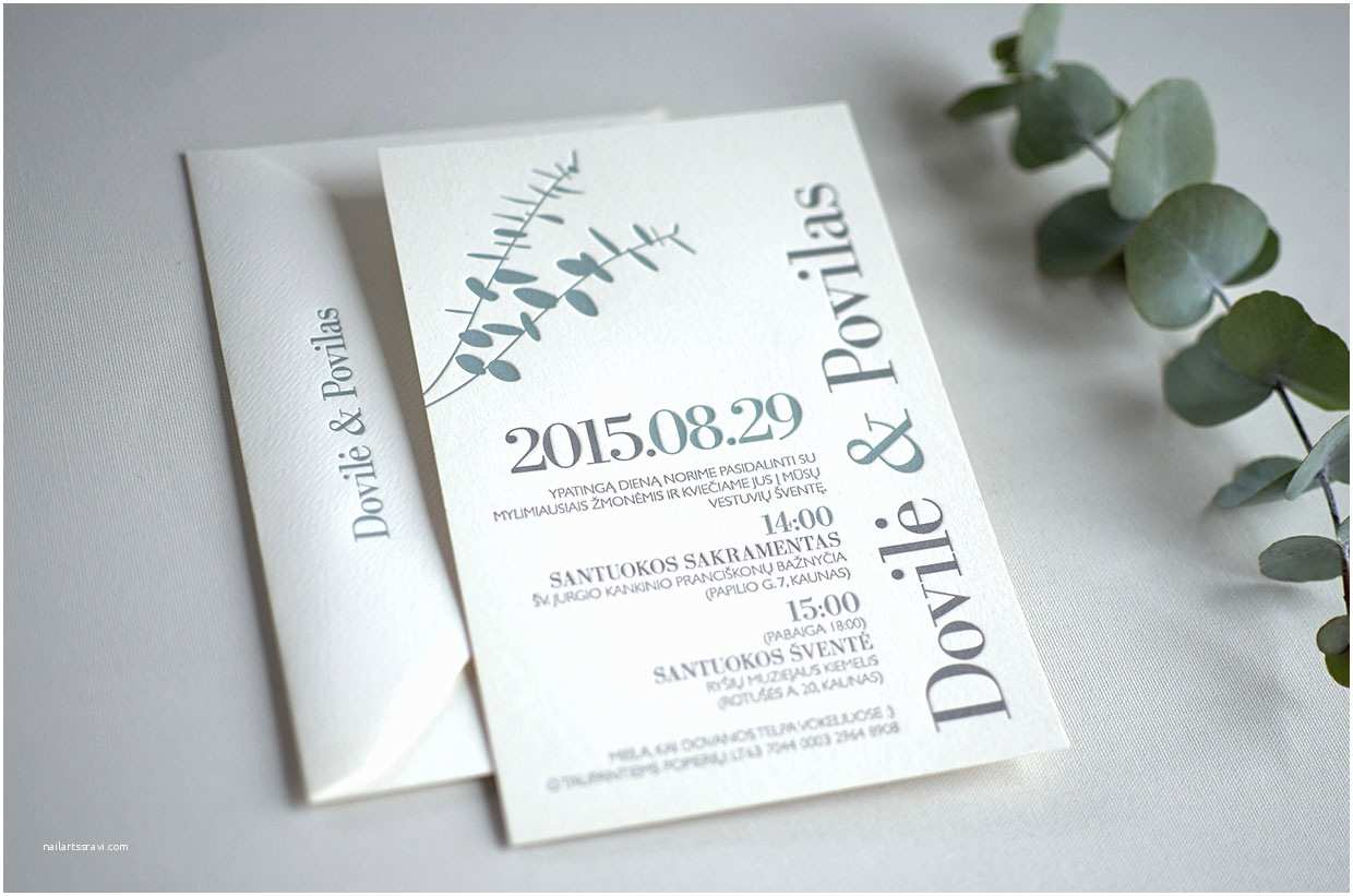 Eucalyptus Wedding Invitations Eucalyptus Wedding Invitation