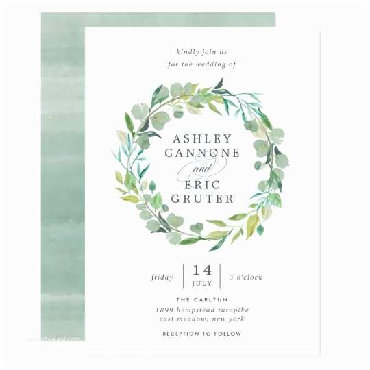 Eucalyptus Wedding Invitations Eucalyptus Wreath Wedding Invitation