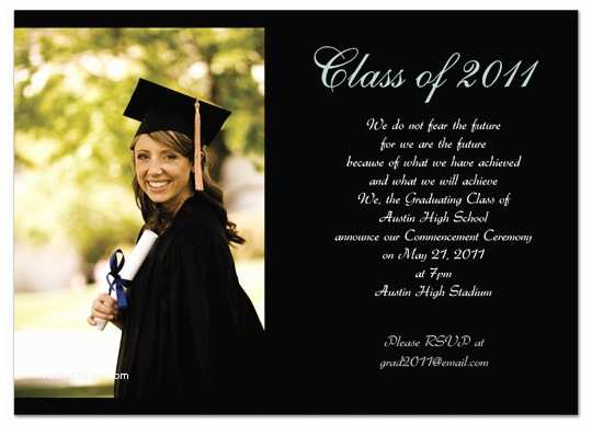 Examples Of Graduation Invitations Download Examples Graduation Invitation Announcement Black