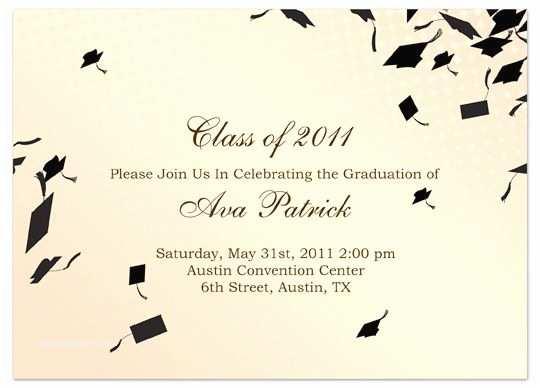 Examples Of Graduation Invitations Download Sample Graduation Invitation Announcement Cream