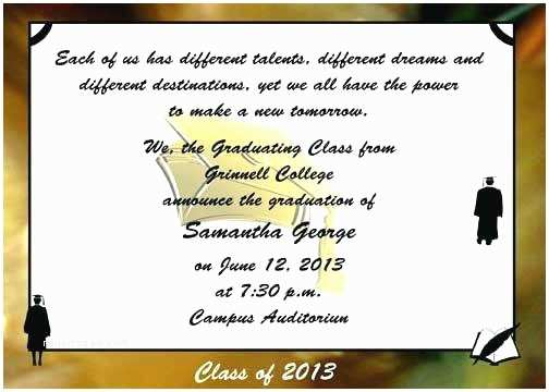 Examples Of Graduation Invitations Graduation Announcements Wording Samples – Meichu2017