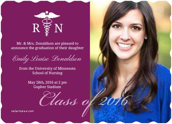 Examples Of Graduation Invitations Nursing Graduation Announcement Wording Ideas
