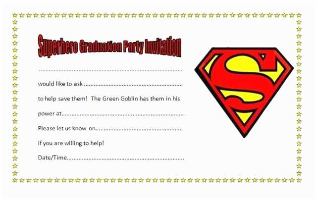 Examples Of Graduation Invitations Superhero Party Invitations