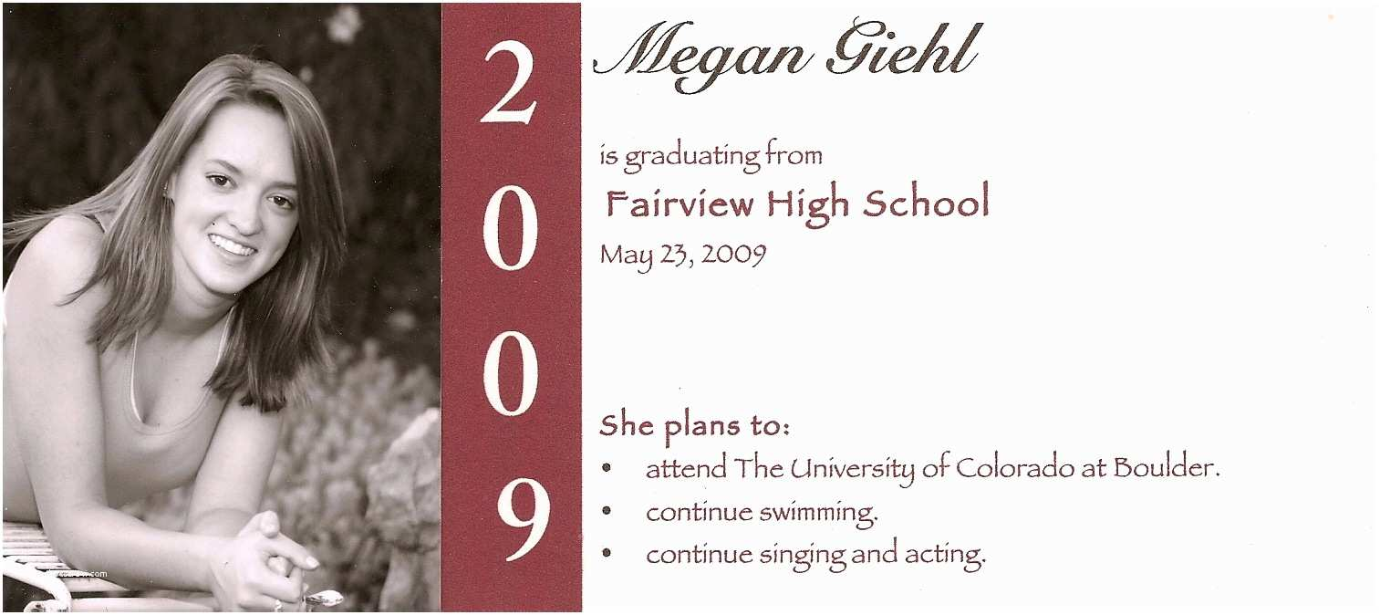 Examples Of Graduation Invitations Unique Diy Graduation Announcement E Card Design with