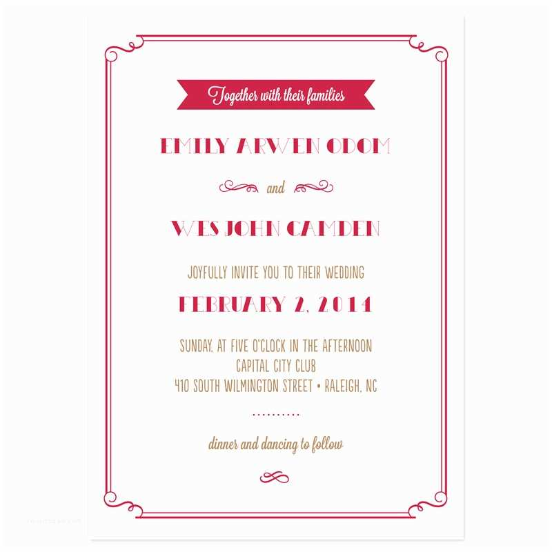 Examples Of Wedding Invitations Sample Wedding Invitation