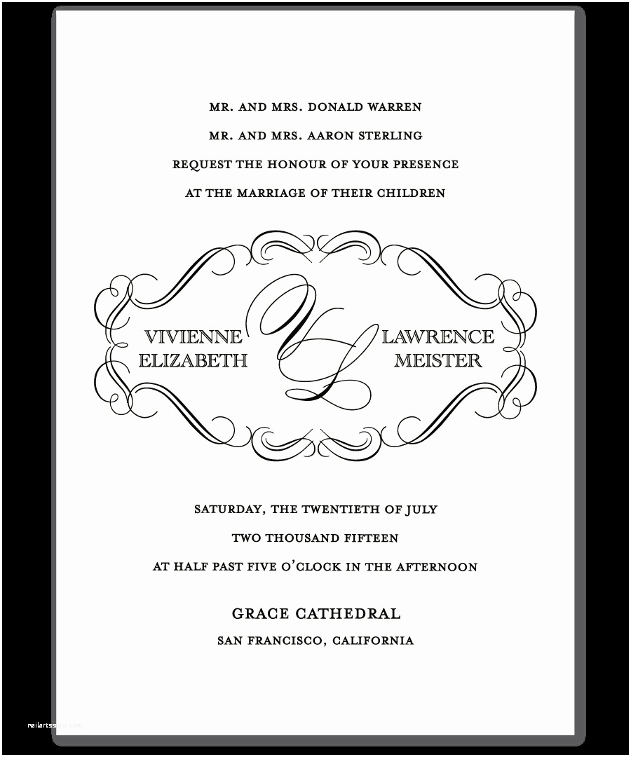 Examples Of Wedding Invitations Wedding Invitation Examples Template