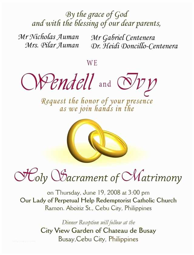 Examples Of Wedding Invitations Wedding Invitations Wording Samples