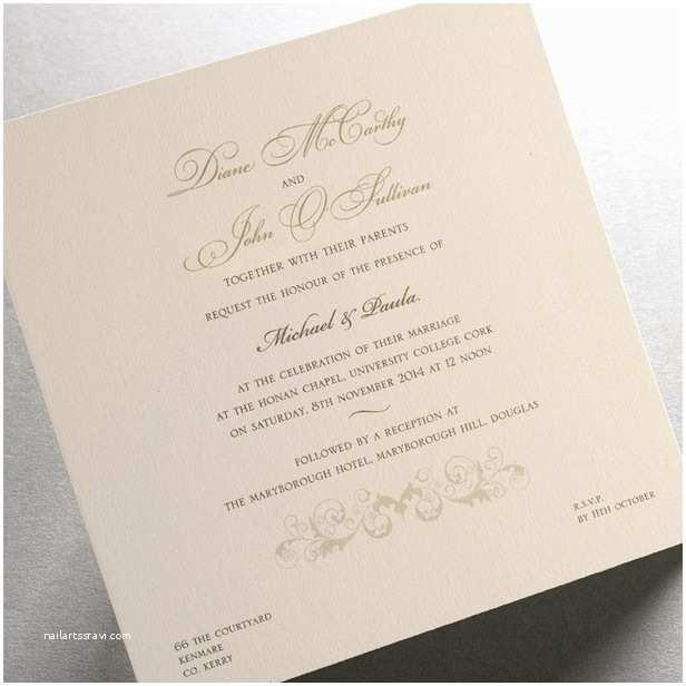 Exclusive Wedding Invitations Exclusive Irish Wedding Invitations