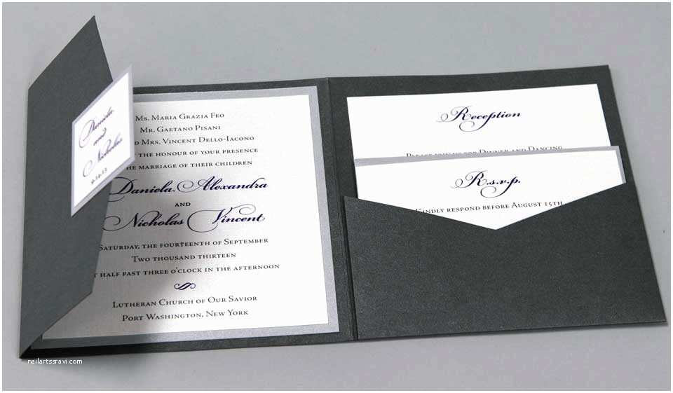 exclusive wedding invitations with pockets