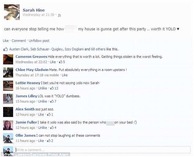 Facebook Party Invite Party £30k Trail Of Destruction when 800 Descend