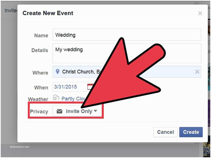 Facebook Wedding Invitation How to Create A Marriage Invitation On 7 Steps