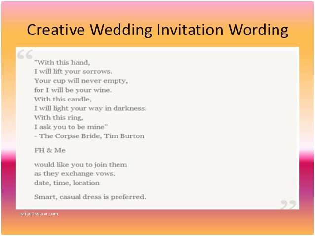 Facebook Wedding Invitation Inspirational Wedding Invitation Wording for Friends In