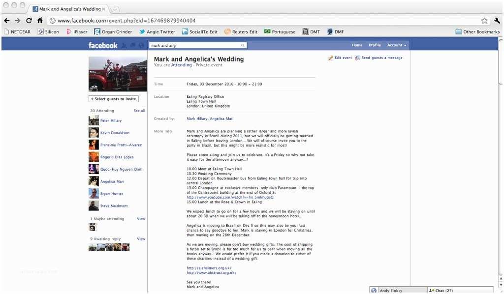 Facebook Wedding Invitation Wedding Invitation